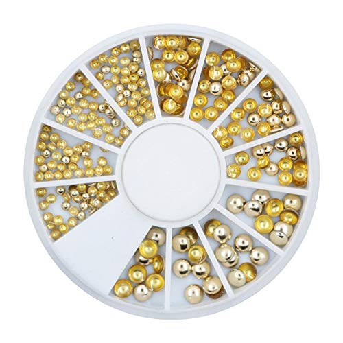 Nail Decoration Nail DIY Nail Jewelry Golden Round Rivet Jewelry Nest Nail Drill Plate 12 Grid Turntable Jewelry for Nail Decoration Nails Art
