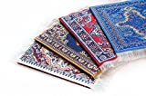 Oriental Carpet Coasters (Set of 4) Assorted Designs - Rug Table Coasters – Oriental Design Fabric Carpet Drink Mats. Perfect Cloth Fabric Cork Back Coaster is the Perfect housewarming present!