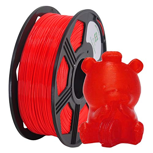 YOYI 3D Printer Filament, PLA Filament 1.75mm 2.2 lbs Spool (1kg), Dimensional Accuracy +/- 0.03 mm, 100% Europe Raw Material (red)