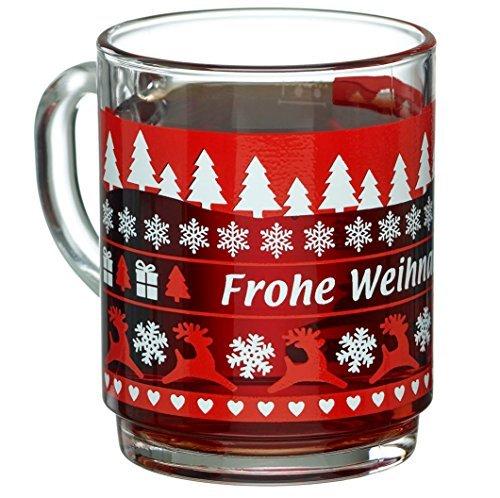 vontek 24x1 Bock 0,2l geeicht Teeglas gehärtetes Glas stapelbar Glühweingläser Glühweinbecher