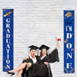 Graduation Party Welcome Porch Sign Graduation I'm Done Hanging Banner Grad Party Decoration Outdoor Indoor Front Porch for The Home School