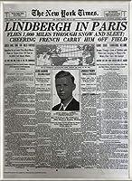 ポスター ピーター リンドバーグ VISIONAIRE(ヴィジョネアー)チャールズ・リンドバーグ NYタイムズ1927年5月22日 額装品 アルミ製ベーシックフレーム(ライトブロンズ)