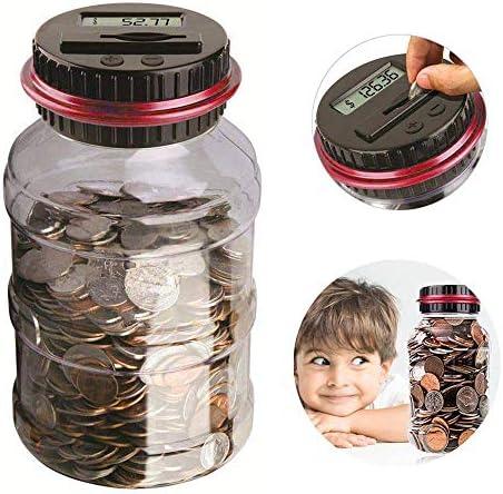 Digital Coin Bank Counter Digital Counting Money Jar High Capacity Piggy Bank Counter Money product image