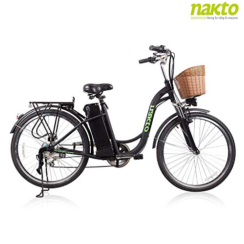 NAKTO 26' Adult Electric Bicycle for Women with High-Speed Brushless Motor, V Brake, Sporting...