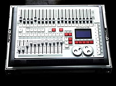 Dmx Console,Mini Pearl Console Dmx 512CH Can Use R.20 Library, With Flying Case, Controller Panel Use For Editing Program Of Stage Lighting Runing
