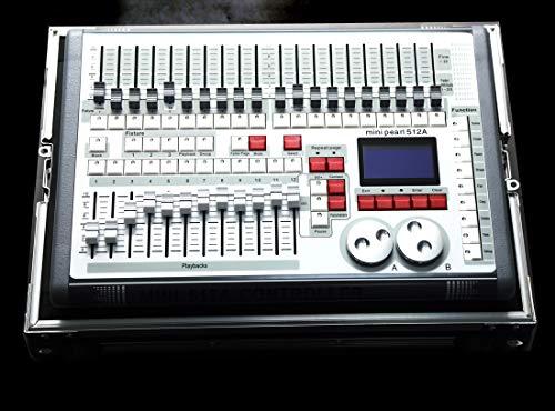 La consola Dmx, la consola Pearl Dmx 512CH puede usar la biblioteca R.20, con el estuche volante, el panel del controlador para editar el programa de iluminación de escenario.