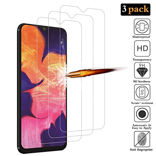 ANKENGS Samsung Galaxy A10 Panzerglas [3er Pack], Samsung A10 Schutzfolie Panzerglas, [Kratzfest] [Anti-Schaum] Samsung Galaxy A10 Displayschutzfolie