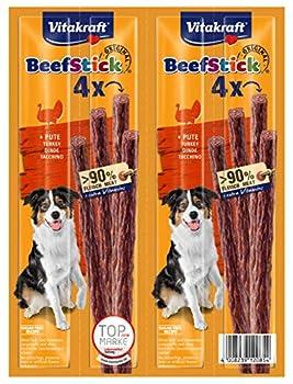 Vitakraft Beef Stick à la Dinde, Friandise Snack à la Viande Qualité Premium pour Chien, 10 Sachets de 4 Sticks