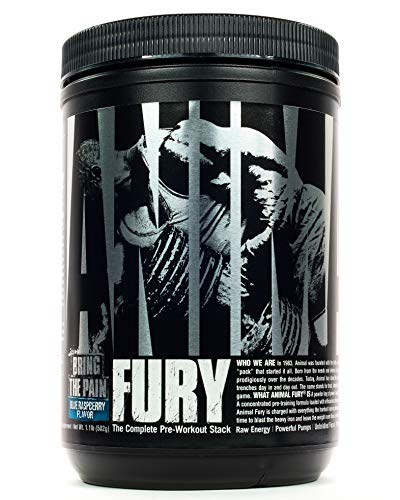 Universal Nutrition Animal Fury Pre-Workout Booster Trainingsbooster 491g (Blue Raspberry - Brommbeere)