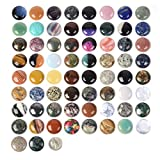 Wholesale Lot 24pcs Multi-Color 30mm Gemstone Round Cab Cabochon for Jewelry Making