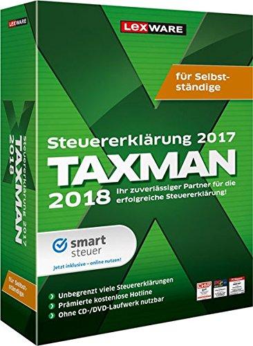 Lexware Taxman 2018 für das Steuerjahr 2017|für Selbstständige|Übersichtliche Steuererklärungssoftware für Selbstständige, Gründer und Unternehmer|Kompatibel mit Windows 7 oder aktueller