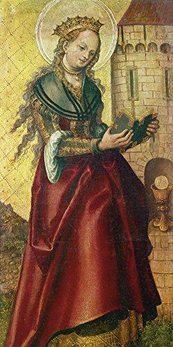 Artland Alte Meister Premium Wandbild Lucas Cranach d.Ä. Bilder Poster 60 x 30 cm Die heilige...
