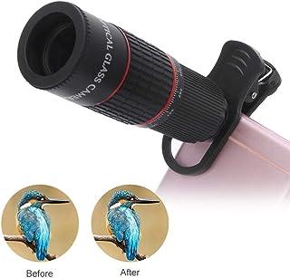 MWKLW Binoculares Visores telescópicos, telescopios Teléfono móvil Teleobjetivo Lente de Aumento 20X Lente de Vidrio óptico de Alta definición Externo para oblicción de Aves Concierto