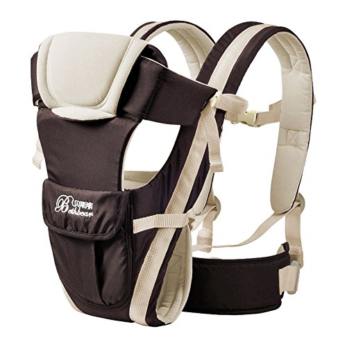 GZQ Baby & Child Carrier Front Packs Ergonomic Baby Carrier Cotton (Coffee)