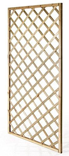 VERDELOOK Grigliato in Legno impregnato Rettangolare arredo Esterni, 180x90 cm