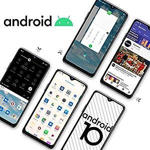 """Blackview A80 Moviles Libres 4G Android 10 GO con 6.21"""" HD+ Water-Drop Screen, Cámara Trasera Cuádruple 13MP, Teléfono Móvil 2GB+16GB (SD 128GB), Batería 4200mAh Smartphone Libre, Face ID/GPS-Negro"""