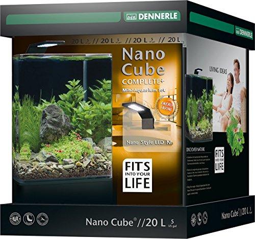 Dennerle Nano Cube Complete+ 20 Liter – Mini Aquarium mit Abgerundeter Frontscheibe – Komplett-Set - 2