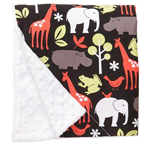 Original Baby Elephant Ears, Manta de bebé para niños y niñas, Suave Minky, para bebés recién Nacidos y niños, Manta de Felpa (Zoología, Grande 27 x 29 Pulgadas)