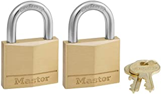 Master Lock 140T Solid Brass Keyed Alike Padlock, 7 Count Total