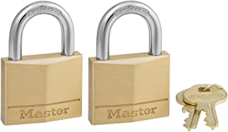 Master Lock 140T Solid Brass Keyed Alike Padlock, 2 Pack