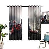 Cortinas opacas perforadas con materiales de aislamiento y cortinas opacas en el dormitorio de 132 x 213 cm