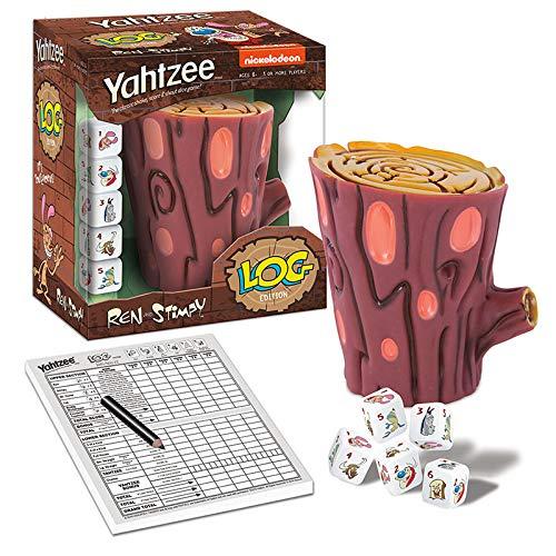 YAHTZEE Ren & Stimpy Dice Game | Based on Nickelodeon Series Ren & Stimpy | Officially Licensed Ren & Stimpy Merchandise | Themed Yahtzee Dice Game