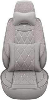 Washable Cars Seats Cover Seat Cushion Pregnancy for Back Pain Plush Car Seat Cushion Plush Flat Cloth Universal Fit Car Seat Covers Set with Airbag Compatible Winter Warm Universal Black
