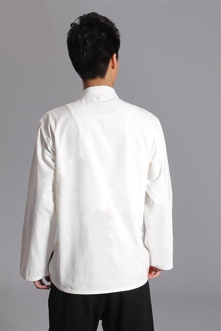 ZooBoo Traditional Long Sleeve Tang Kung Fu Uniform Mens Shirt