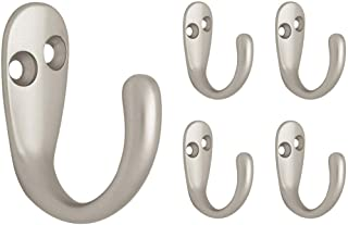 Franklin Brass FBSPRH5-MN-C Single Prong Robe Hook, 5-Pack, Matte Nickel, 5 Piece