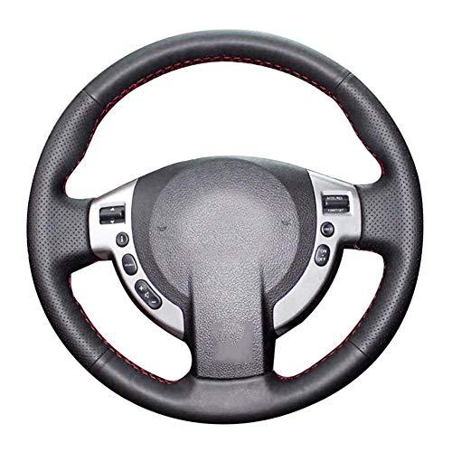 POMNGYUIL Cubierta de Cuero Cosida a Mano para Volante de Coche, Accesorios Interiores de automoción, para Nissan Qashqai 2007-2013 Rogue 2008-2013 X-Trail