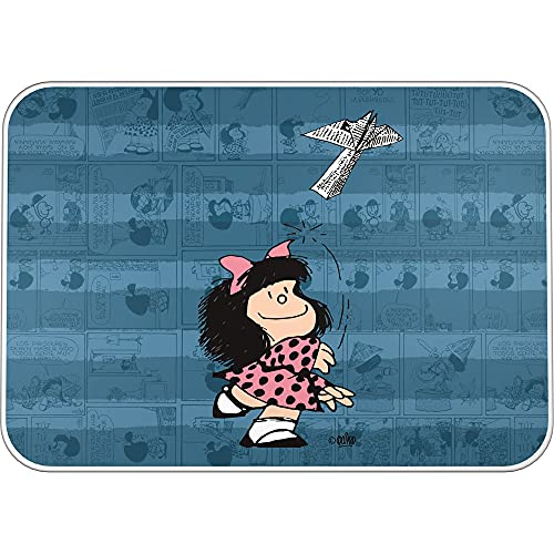Mafalda 9252637. Vade Escolar de Escritorio, PVC, Colección Mafalda, Avión, 47x33cm