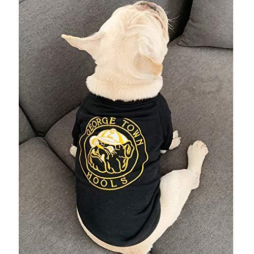 XPC-Haustierkleidung Haustier Weiches Bequemes Sonnenschein-Seeliebhaber Baumwolle Kleidung T-Shirt Mischung Hund Shirts Muskelshirt (Color : Black, Size : L)