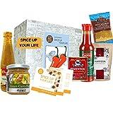 Caja de regalo de comida picante 'Dale sabor a tu vida' | Salsa picante Chile picante y más | Regalo caliente para hombres. Especia. Set de regalo para hombres EN especias calientes para cocinar
