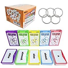 OVER 260 SIGHT CARDS: Each pack comes with over 260 preschool flashcards for kids that provides them with a simple yet engaging way to learn about different words just by seeing them using 6 teaching techniques and 6 fun educational games 5 LEVEL CAR...