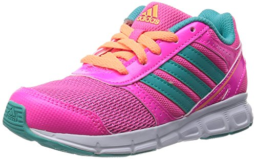 adidas Hyperfast - Zapatillas de Running para niñas, Color Solar Pink/Vivid Mint f14/flash Orange s15, Talla 40.1111111111111