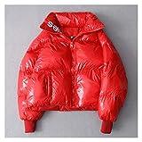 Hermosa y elegante parka de invierno brillante para mujer, impermeable, abrigo, abrigo, abrigo, abrigo, abrigo, abrigo, abrigo, abrigo, abrigo, para mujer, para mujer (color: rojo, tamaño: mediano)