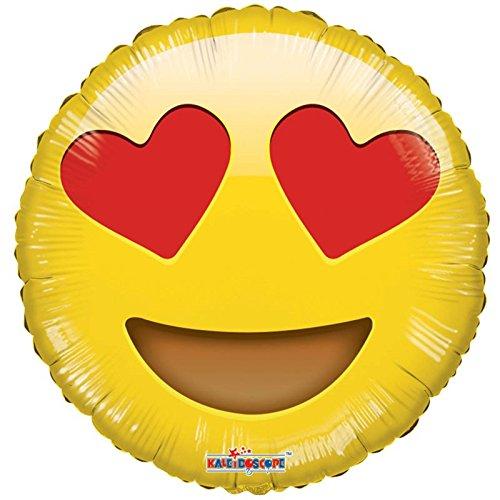 North Star 5NS01270-01 - Balón de papel emoticono, 45 cm, ojos de corazón, multicolor