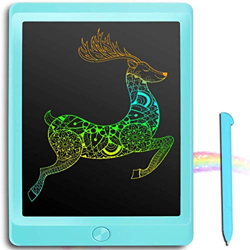JOEAIS Tableta de Escritura LCD Color 8,5 Pulgadas Doodle Tabler de Escritura electrónica Tablero de Dibujo Digital Tableta de Dibujo gráfico Adecuado para niños, hogar, Escuela, Oficina (Azul)