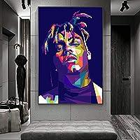 ジュースワールドラッパーキャンバス壁画とプリントアートポスター壁の画像リビングルームの装飾絵画20x28インチ(50x70cm)フレームレス