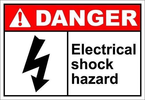 Placa metálica de aluminio sin marca eléctrica para peligro de peligro de riesgo OSHA ANSign