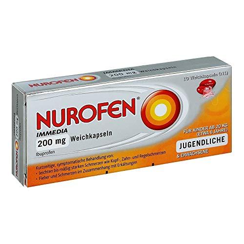NUROFEN Immedia 200 mg Weichkapseln bei Schmerzen und Fieber, 10 St. Kapseln