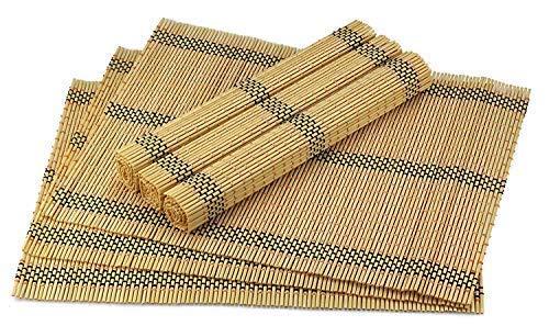 Urban Lifestyle Vienna 6 tovagliette/segnaposto, in bambù - bambù naturale, modello Herbert., Bambù, naturale, 45*30cm