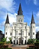 Daily Organizer and Planner: New Orleans Cathedral: 140 Page 6x9 Notebook Journal Diary