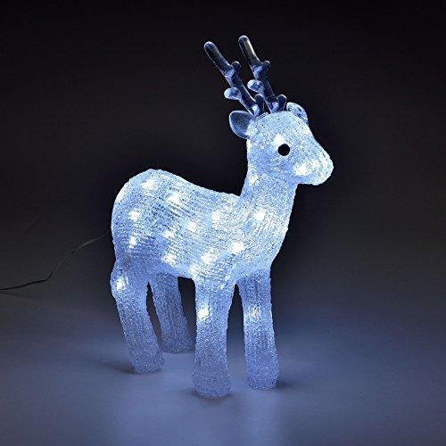 LD LED decorativa navideña reno Navidad decoración iluminación acrílico luz Figura de Navidad