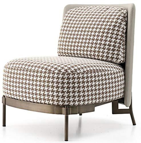 Casa Padrino sillón Art Deco Blanco/marrón/Bronce/Gris 73 x 74 x A. 66 cm - Sillón de Salón - Muebles