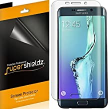 (2 Pack) Supershieldz Designed for Samsung Galaxy (S6 Edge Plus) Screen Protector, (Full Screen Coverage) (3D Curved PET) High Definition Clear Shield