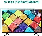 BYCDD 47 Pouces TV Protecteur D'écran, Anti-Lumière Bleue Anti-Éblouissement Protection des Yeux Ultra-Clear Screen Protector pour LCD, LED, OLED et 4K QLED HDTV,1044x590mm