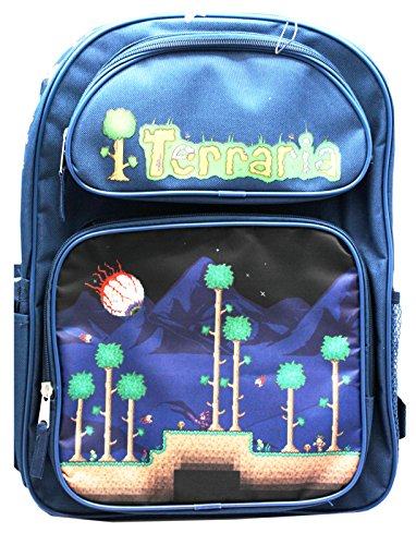 Terraria Navy Blue Boys Full Size School Backpack (16in)