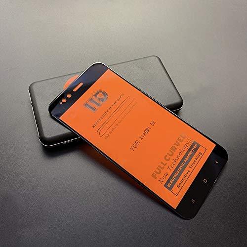 Película de cristal moderada del teléfono móvil Scratchproof 11D HD Full Glue Full Curved Screen Película de vidrio templado for Xiaomi Mi 5X / A1 (Negro) Película de vidrio templado ( Color : Black )