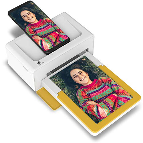 """Kodak Dock Plus Portable Instant Photo Printer, Compatible with iOS, Android & Bluetooth Devices, Real Photo (4""""x6""""), 4Pass Technology & Lamination Process, Premiun Quality - Convenient and Practical"""